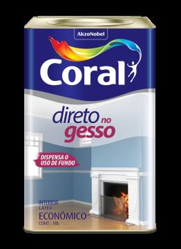 Tinta Direto no Gesso Branco 18L Coral