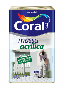 Massa Acrílica 25Kg Coral