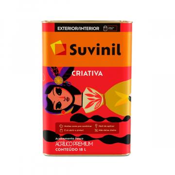Acrílico Branco Fosco Premium Suvinil Criativa 18L