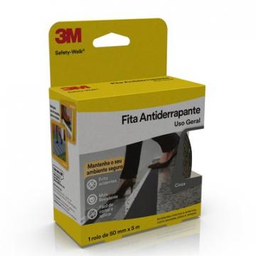 Fita Anti-Derrapante Cinza 50MM X 5 METROS 3M