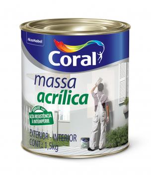 Massa Acrílica 0,9L Coral