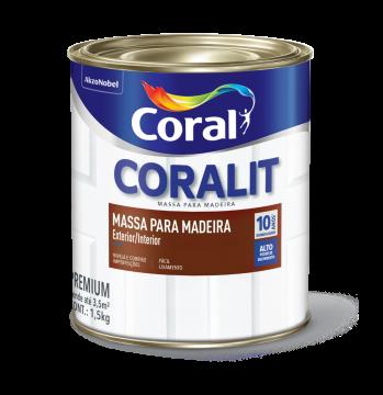 Massa para Madeira 0,9L Coral