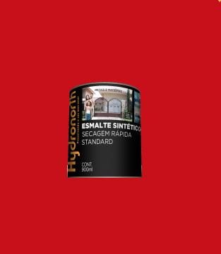 Esmalte Brilhante Vermelho 0,9L Hydronorth