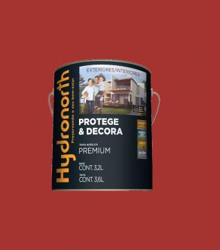 Acrílico Vermelho Grafiatto Semibrilho Hydronorth Premium 3,6L